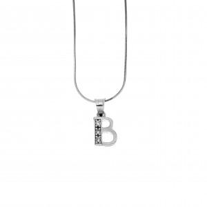 Monogram B Silver 925 with Zircon AJ (AM0001)