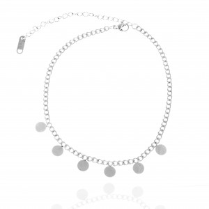 Stainless Steel Foot Chain in Silver AJ (APK0006A)