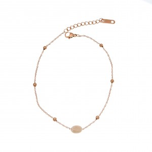 Women's Foot Chain made of Steel in Pink Gold AJ(APK0011RX)