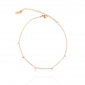 Anoxic Steel Foot Chain in Pink Gold AJ (ARK0012RX)