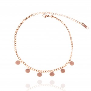 Steel Chain Pink in Pink Gold AJ (APK0013RX)