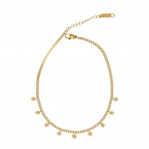 Foot Chain from Surgical Steel in Gold AJ (APK0016X)