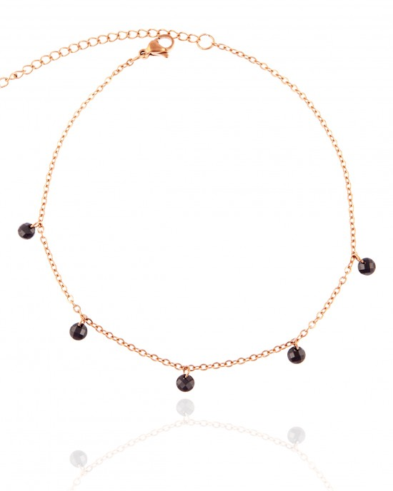 Steel Chain Pink in Pink Gold AJ (APK0025RX)