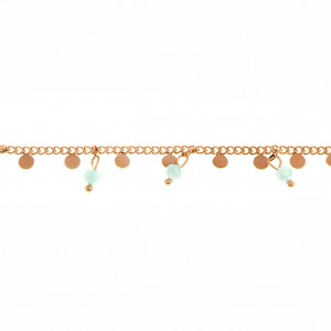 Steel Bracelet in PINK Gold with Stones AJ (BK0178RX)