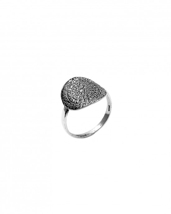 Women's Sterling Silver Pendant Disc Ring 925 AJ(DA0004A)
