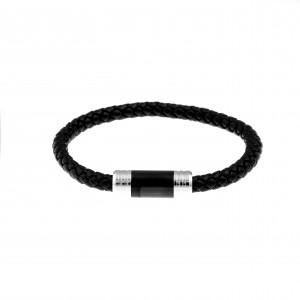 Men's Steel Leather Bracelet AJ (BDA0004)