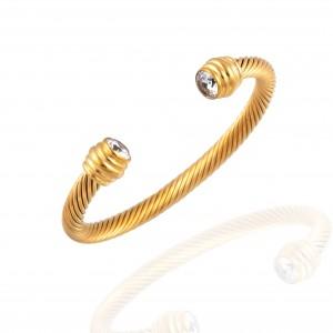 Bracelet - Steel Rod in Yellow Gold AJ (BK0006X)