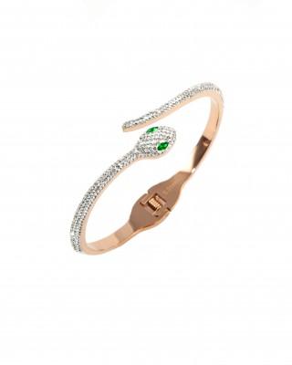 Steel snake bracelet for women in pink gold BK0008RX