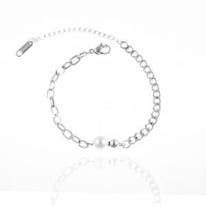 Bracelet-Chain from Steel to Silver AJ (BK0018A)