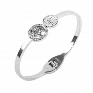 Women's Bracelet from Tree of Life in Silver with Zircon Stones  AJ(BK0021A)