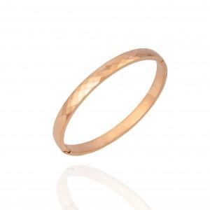 Bracelets - Steel Handcuffs in Roz Gold AJ (BK0025RX)