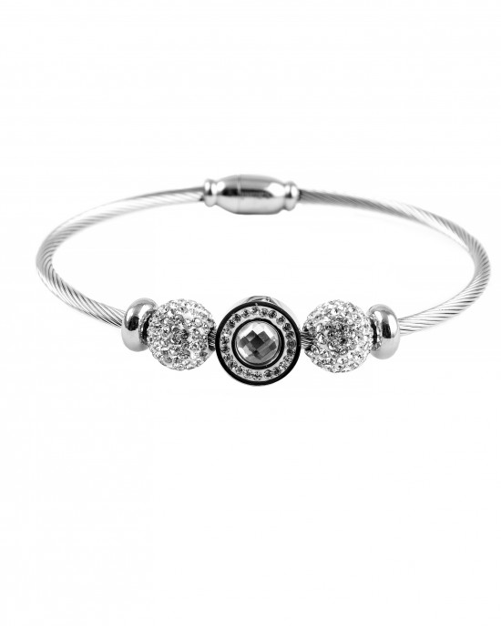 Women's bracelet with magnet made of surgical steel BK0002A