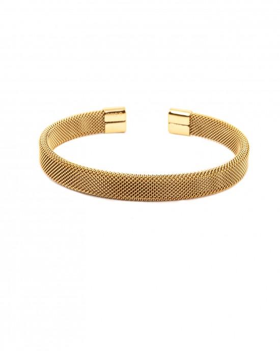 Women's Handmade Bracelet Stainless Steel Adjustable in Gold AJ (BK0035X)