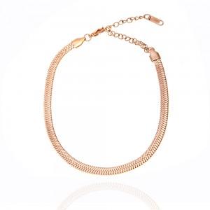 Foot Chain Women's Steel Snake in Pink Gold AJ (BK0039RX)
