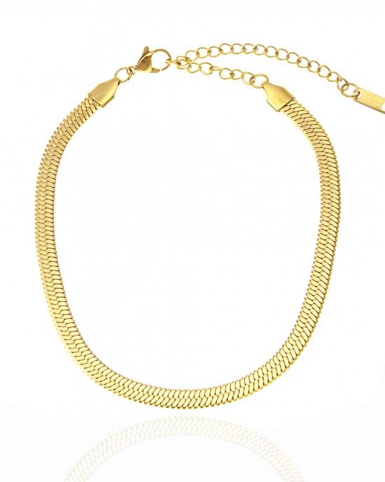 Foot Chain Steel Snake in Yellow Gold AJ (BK0039X)
