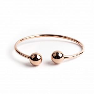 Women's surgical steel bracelet in pink gold AJ(BK0048RX)
