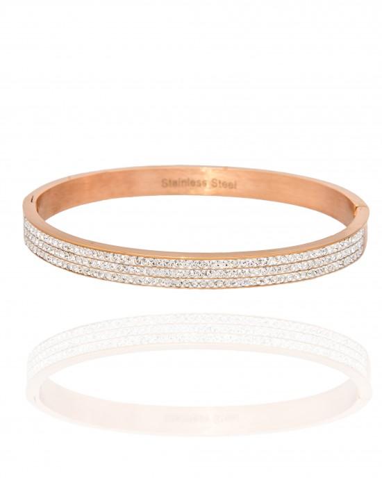Women's Steel Handcuffs in Rose Gold AJ (BK0048RX)