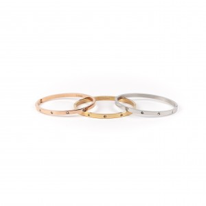 Women's Bracelet Opening, from Surgical Steel to Pink Gold Color AJ (BK0052RX)