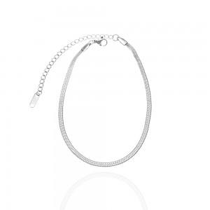 Steel Snake Bracelet in Silver Color AJ (BK0056A)