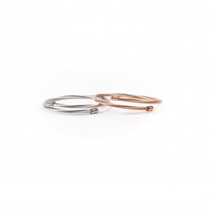 Women's Bracelet Rod Made of Steel in Pink Gold AJ (BK0073RX)