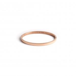 Women's Handmade Bracelet Opened by Steel in Pink Gold AJ (BK0083RX)