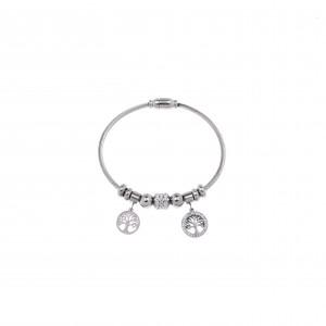 Steel Life Bracelet in Silver AJ Silver (BK0113A)