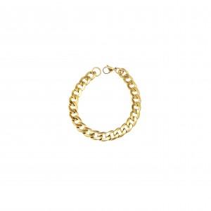 Men's Steel Bracelet in Yellow Gold AJ (BK0114X)