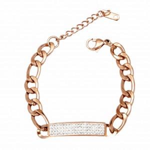 Bracelet-Steel Identity in Pink Gold AJ (BK0115RX)