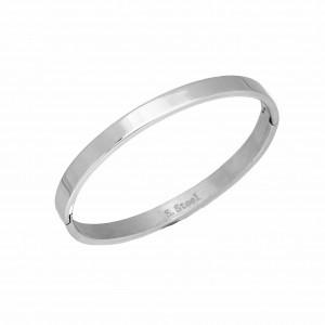 Bracelet-Steel Handcuffs in Silver AJ (BK0117A)