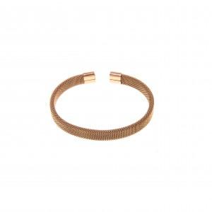 Bracelet-Steel Handcuffs in Rose Gold AJ (BK0120RX)