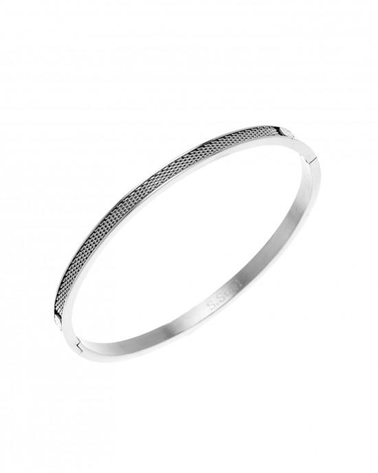 Steel Handcuffs-Bracelet in Silver AJ (BK0127A)