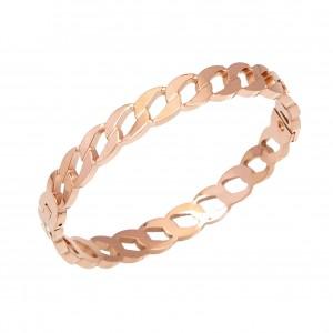 Handcuffs-Steel Bracelet in Rose Gold AJ (BK0134RX)