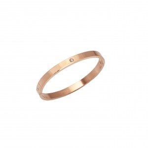 Bracelet-Cuff Open from Steel in Rose Gold AJ (BK0143RX)