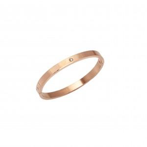 Bracelet-Cuff Open from Steel in Rose Gold AJ (BK0143RX)