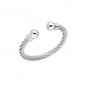 Bracelet-Steel Handcuffs in Silver AJ (BK0144A)