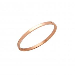 Bracelet-Steel Handcuffs in Rose Gold AJ (BK0155RX)
