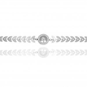 Women's Tree Bracelet in Silver AJ (BK0167A)