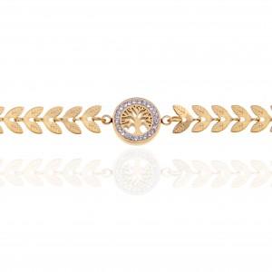 Women's Tree Bracelet in Pink Gold AJ (BK0169RX)