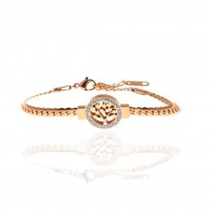 Women's Tree Bracelet in Rose Gold AJ (BK0170RX)