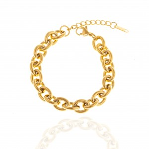 Bracelet - Women's Chain from Steel to Gold AJ (BK0172X)