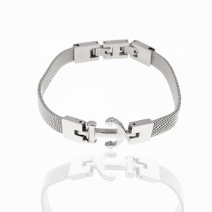 Steel Anchor Bracelet in Silver Color AJ (BK0183A)
