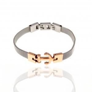 Steel Anchor Bracelet in Pink Gold AJ (BK0183RX)
