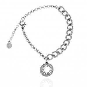 Women's Bracelet-Chain Made of Steel in Silver AJ (BK0187A)