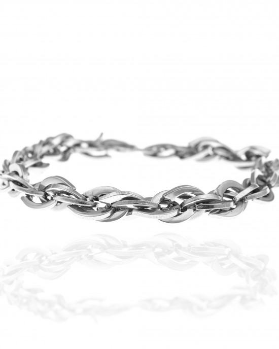 Men's Chain Bracelet from Steel to Silver AJ (BK0188A)