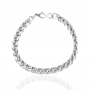 Men's Chain Bracelet from Steel to Silver AJ (BK0189A)