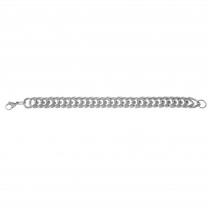 Men's Steel Bracelet in Silver Color AJ (BK0190A)