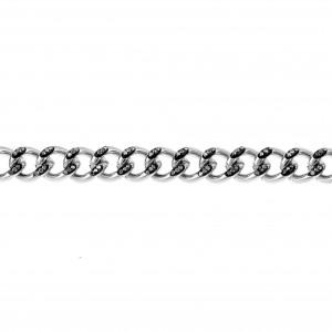 Women's Stainless Steel Bracelet with Stones Silver AJ (BK0199A)