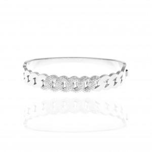 Women's Bracelet from Steel to Silver with Stones AJ (BK0204A)