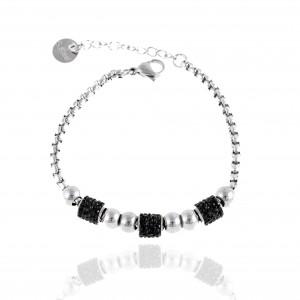 Women's Bracelet from Steel to Silver with Stones AJ (BK0205A)