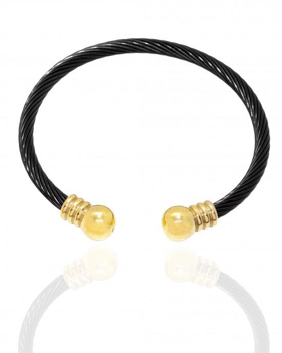 Bracelet-Steel Handcuffs in Black Color AJ (BK0208)